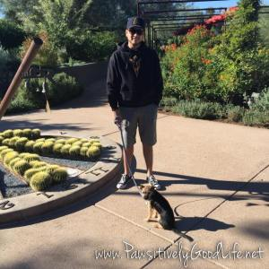 Bella and her pup daddy in STEELE HERB GARDEN